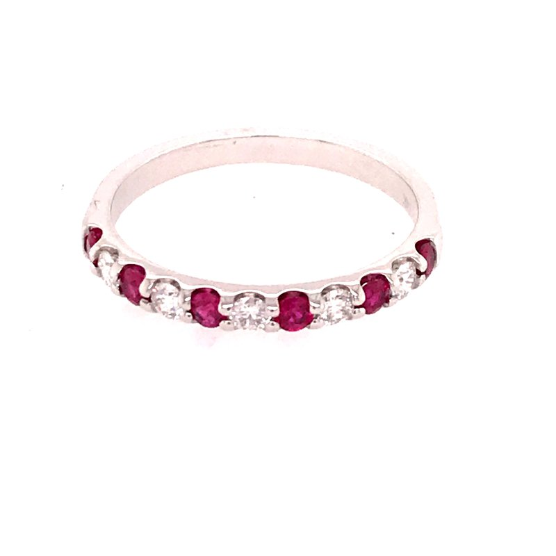 Colored Stone Fashion Ruby and Diamond Fashion Ring
