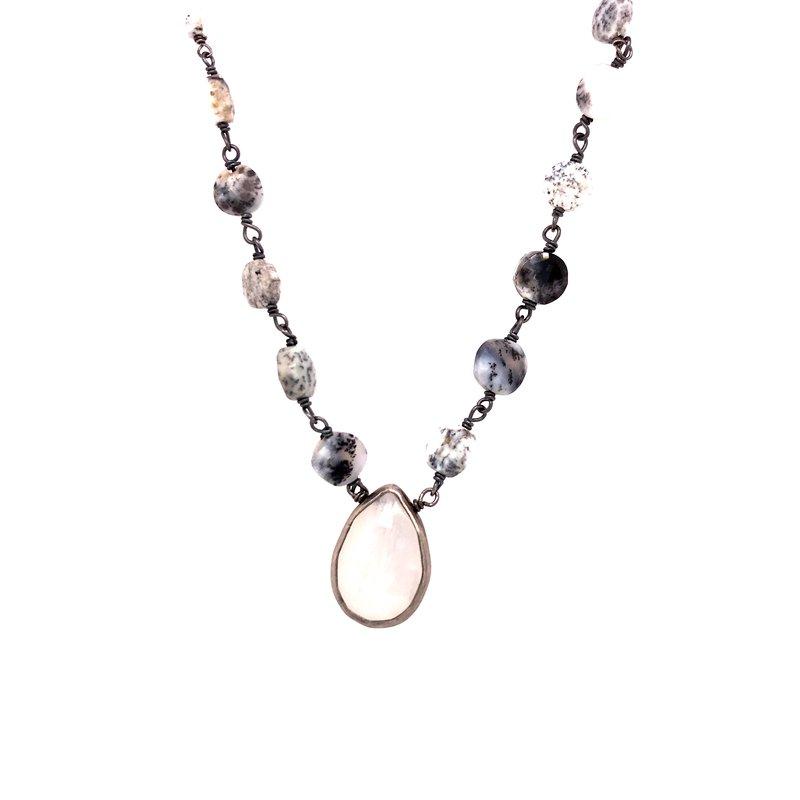 Fashion Jewelry Drendrite Opal Necklace