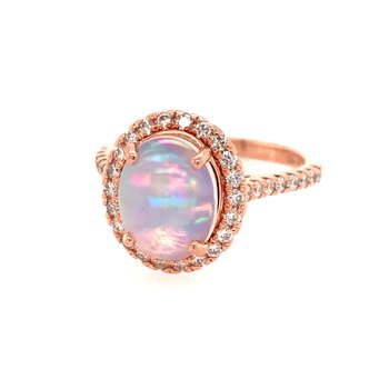 Opal and Diamond Fashion Ring