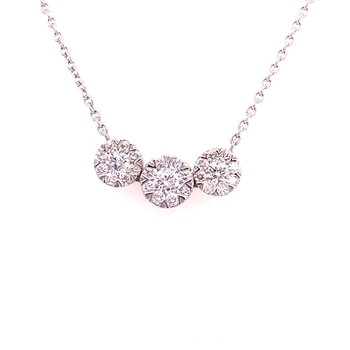 Diamond Three Stone Fashion Pendant