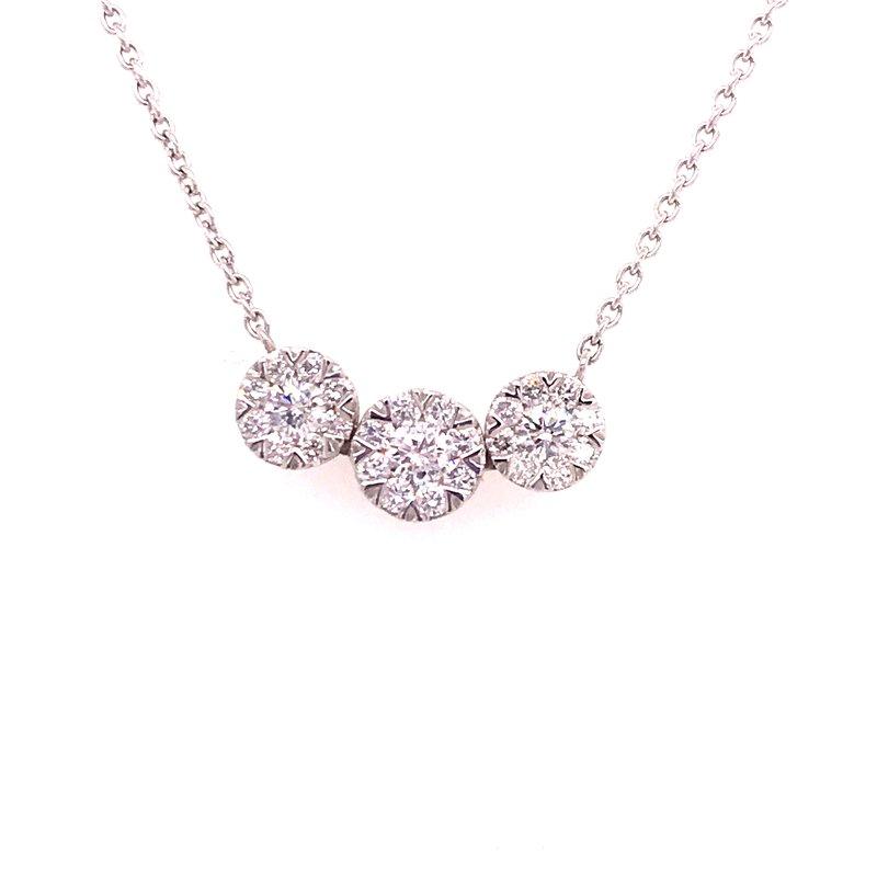 Diamond Three Stone Fashion Pendant