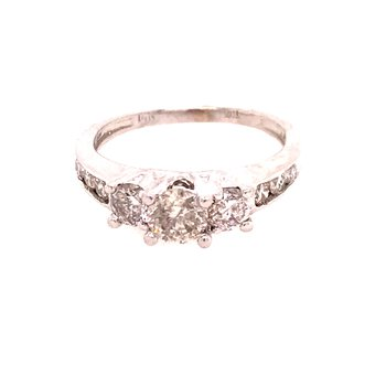 Past Present Future Diamond Ring