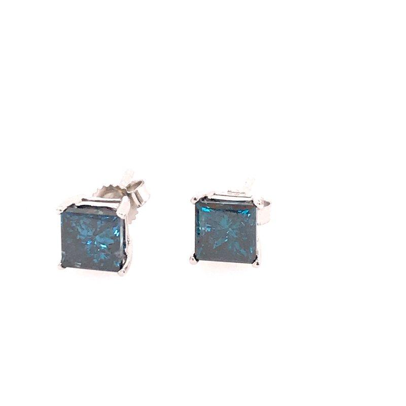 Diamond Fashion Blue Stud Earrings