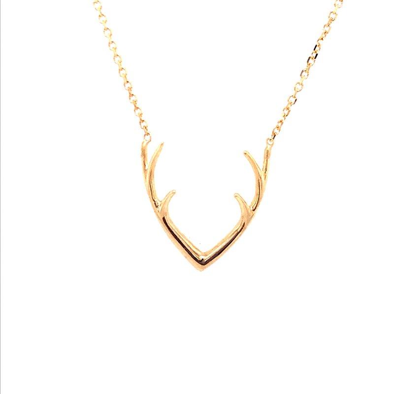 Gold Fashion Antler Pendant