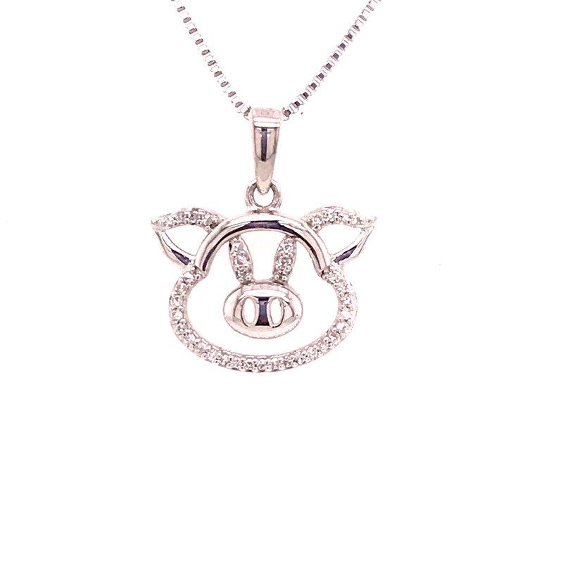 Diamond Fashion Pig Pendant