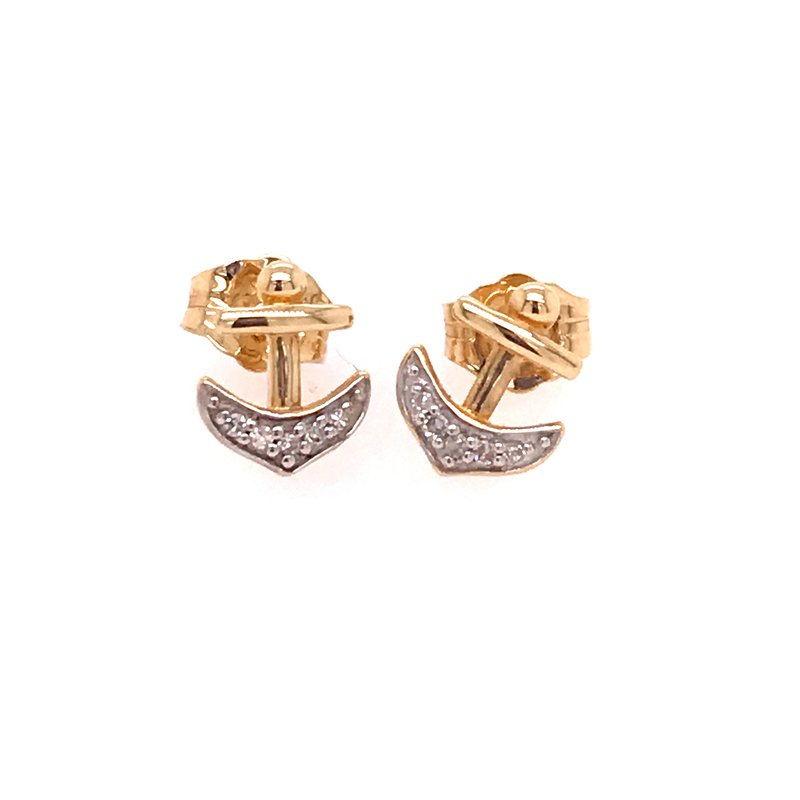 Diamond Fashion Anchor Earrings
