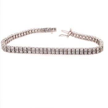 Double Row Diamond Tennis Bracelet