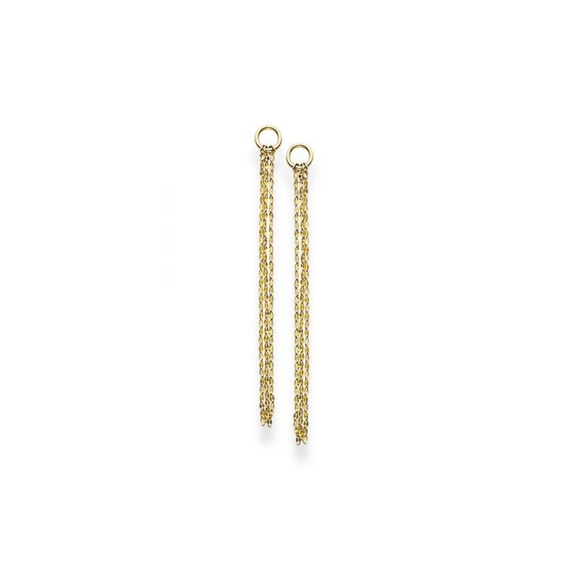 Gold Fashion Multi Strand Drop Earrings