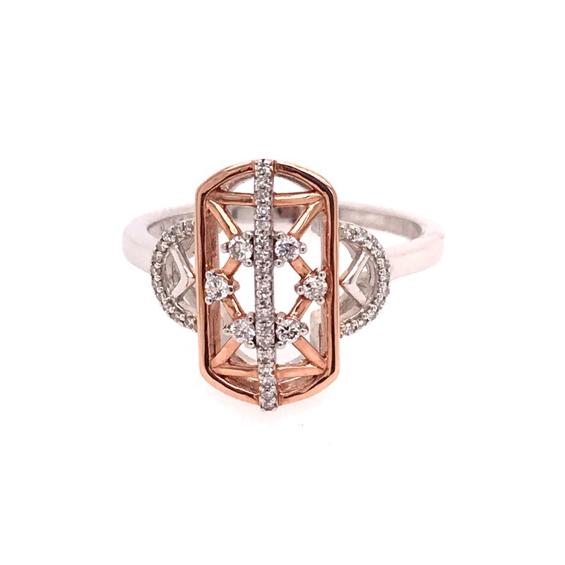 Diamond Fashion Two Tone Ring