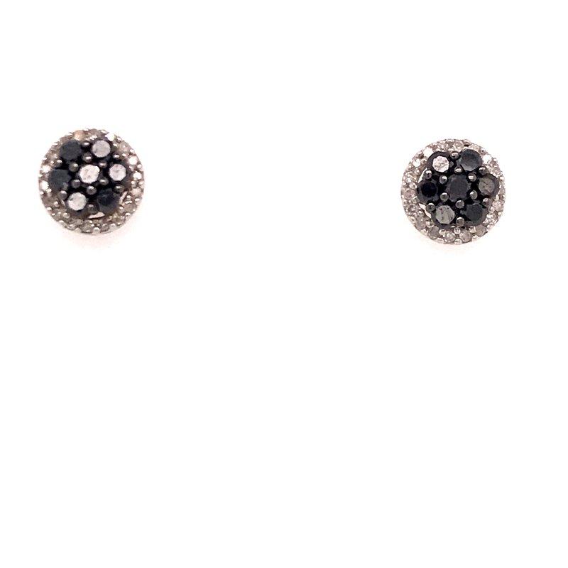 Diamond Fashion Black and White Diamond Fashion Earrings