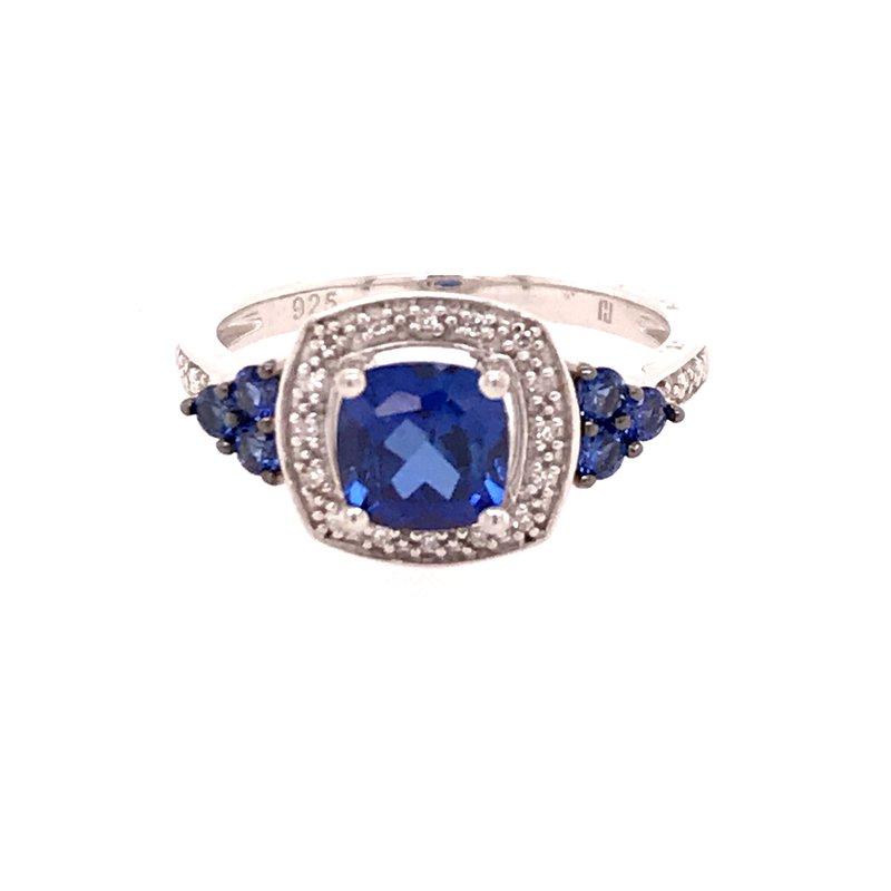 Colored Stone Fashion Created Blue Sapphire Fashion Ring