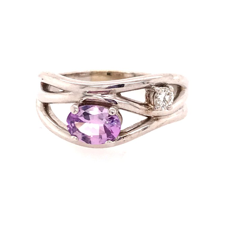 Colored Stone Fashion Pink Sapphire Fashion Ring