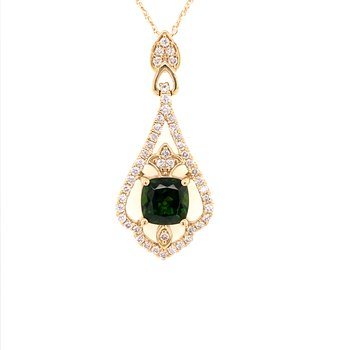 Russalite and Diamond Pendant