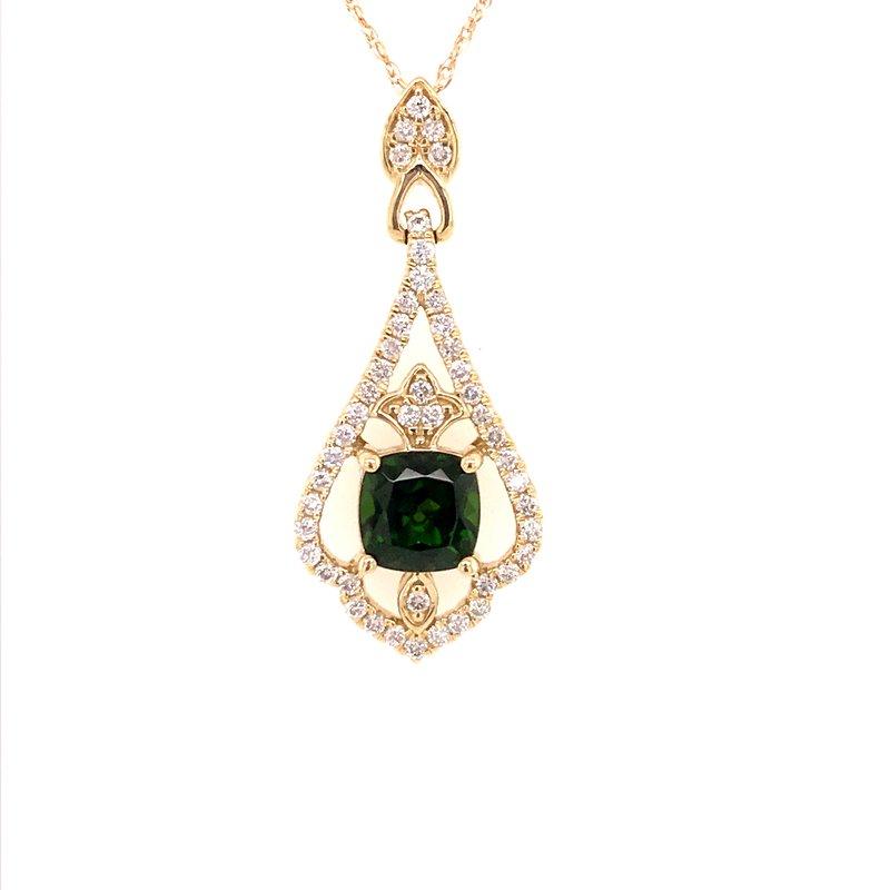 Colored Stone Fashion Russalite and Diamond Pendant