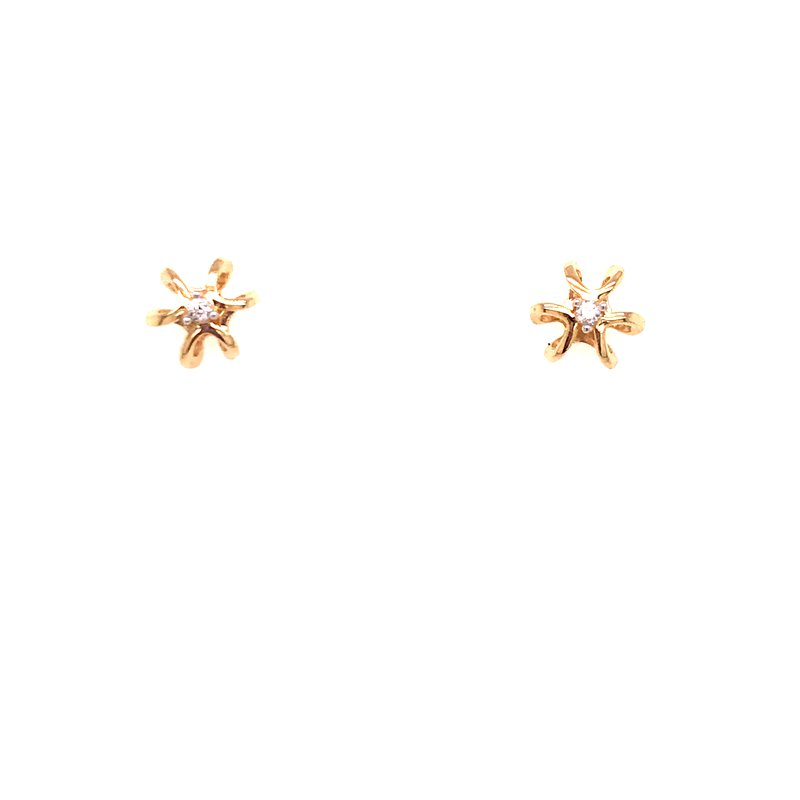 Diamond Fashion Star Diamond Earrings