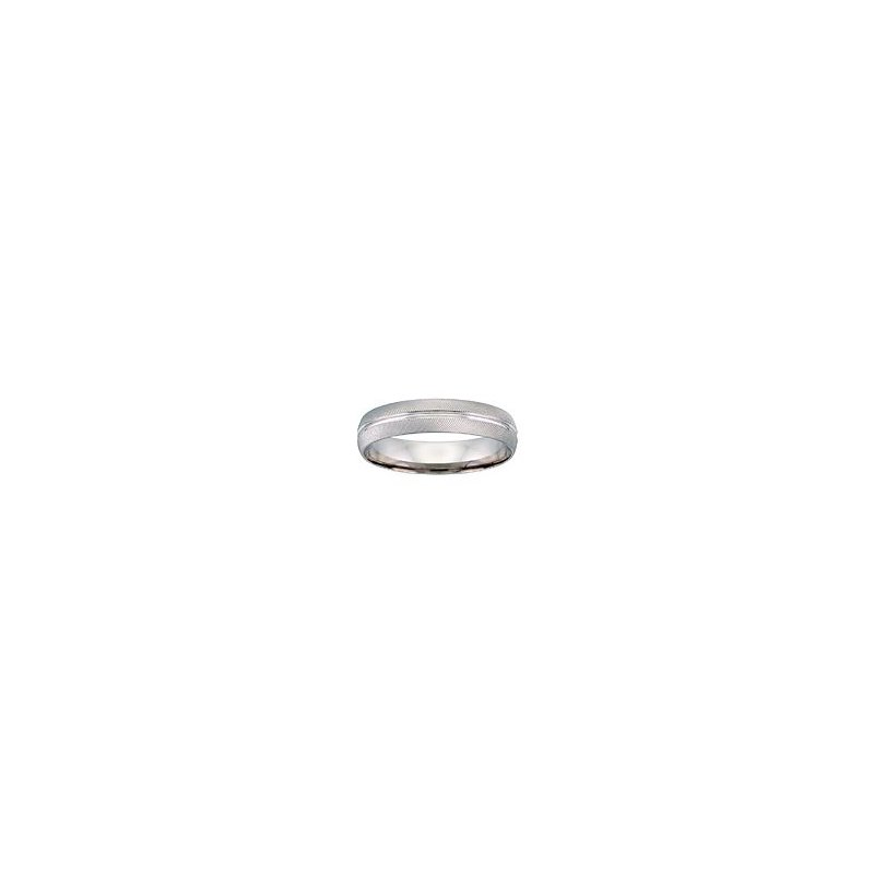 White Gold Linear Wedding Band