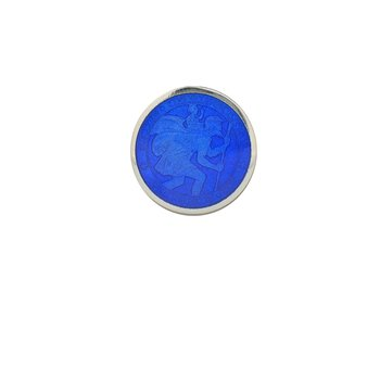 Royal Blue Extra Small St. Christopher Medal