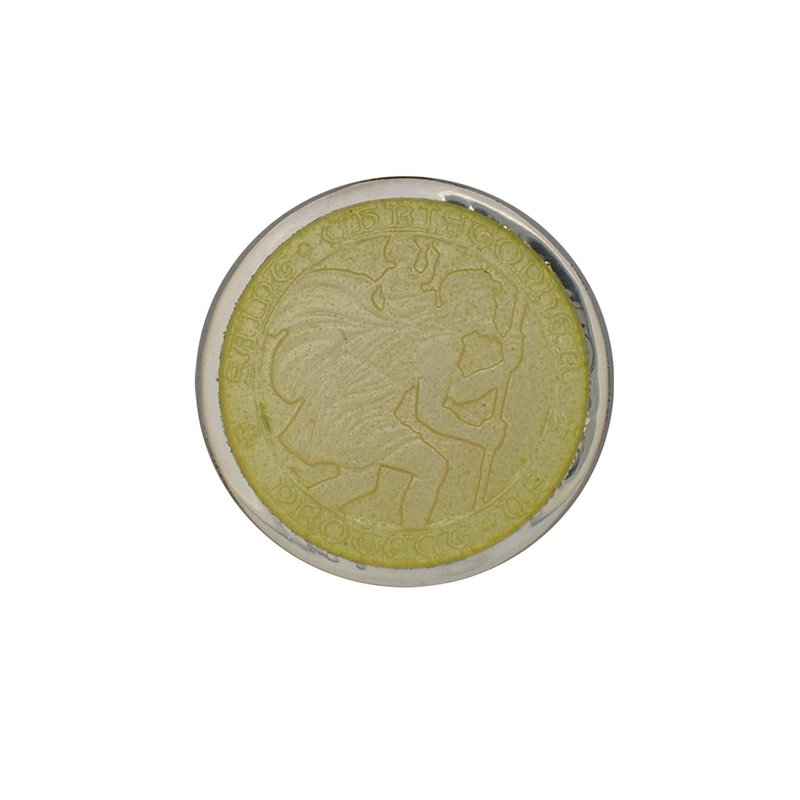 Yellow Small St. Christopher Medal