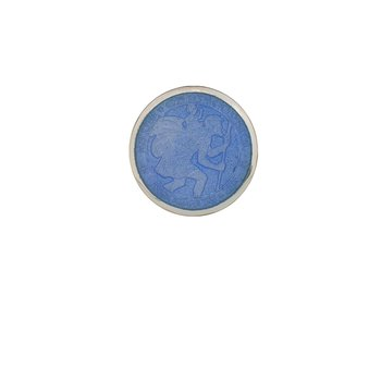 French Blue Extra Small St. Christopher Medal