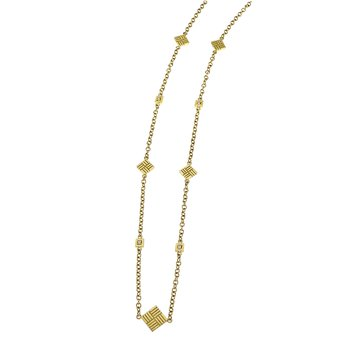 Parquet Station Necklace