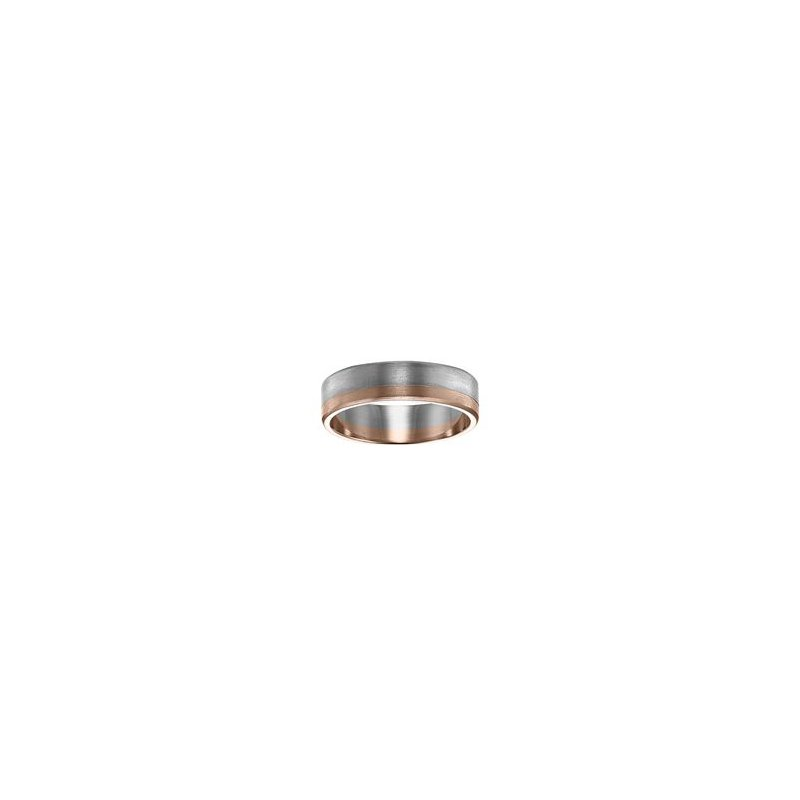 White and Rose Gold Wedding Band