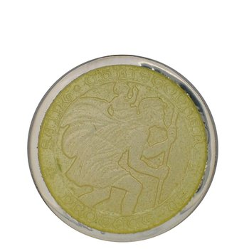 Yellow Large St. Christopher Medal