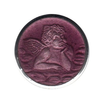Enamel Cherub Medal Medium