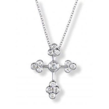 Diamond Lace Cross Pendant