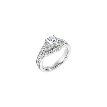 Diamond Insert Style Engagement Ring