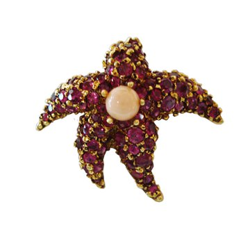 Tiffany & Co. Ruby Starfish Pin