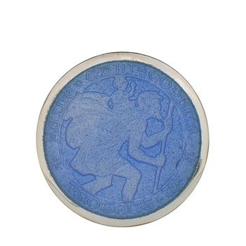 French Blue Medium St. Christopher Medal