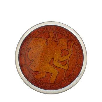 Red Medium St. Christopher Medal
