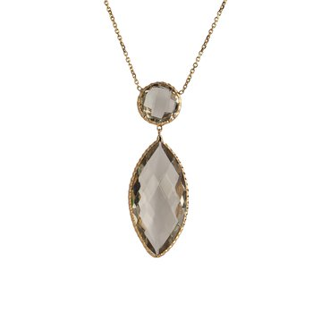 Green Amethyst Marquise Drop Pendant