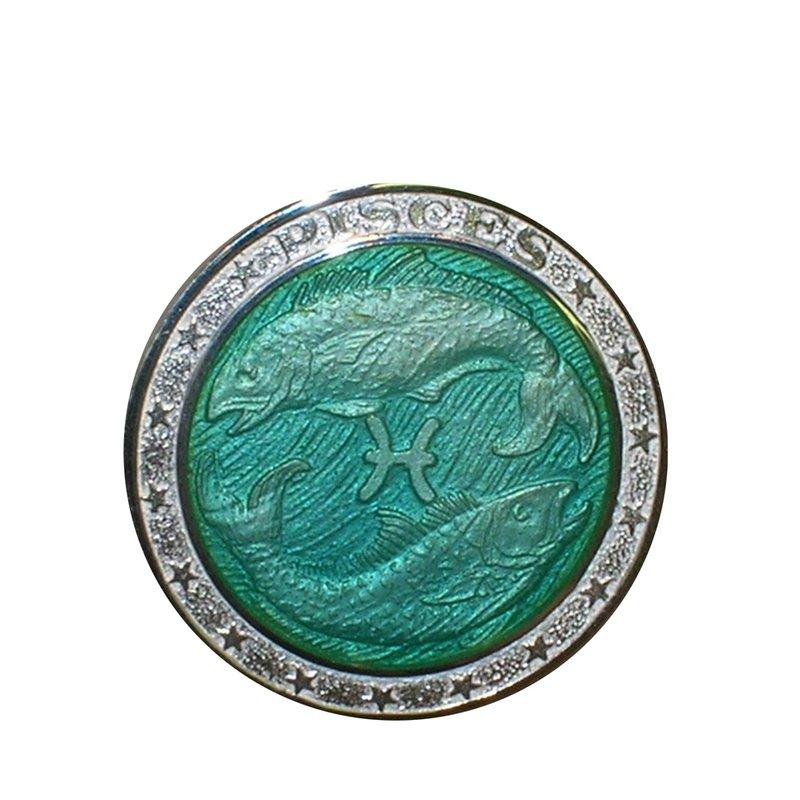 Zodiac Enamel Pisces Charm