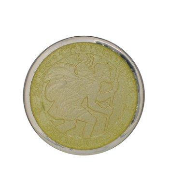 Yellow Medium St. Christopher Medal