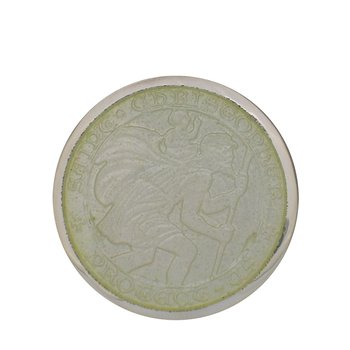 White Medium St. Christopher Medal