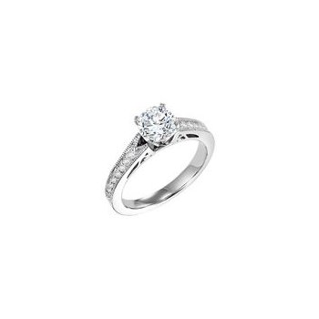 Diamond Engagement Ring with Gallery Detail