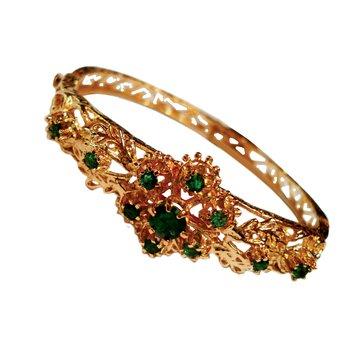 Victorian Style Emerald Bracelet