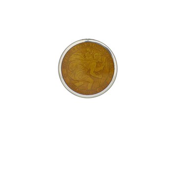Topaz Extra Small St. Christopher Medal