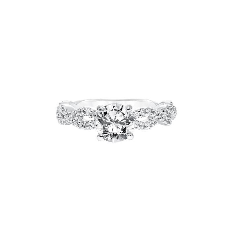 Diamond Prong Set with Twisted Diamond Shank Engagement Ring