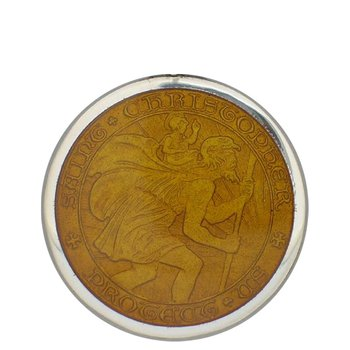 Topaz Large St. Christopher Medal