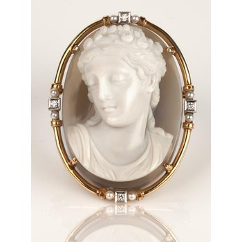 Estate Agate Cameo