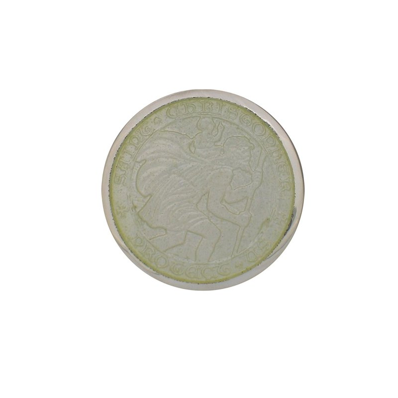 White Small St. Christopher Medal