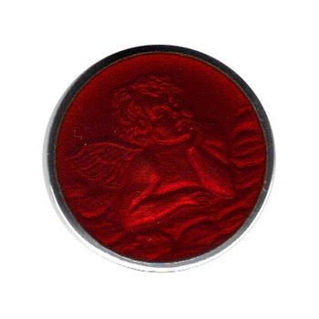 Red Enamel Cherub Medal Medium