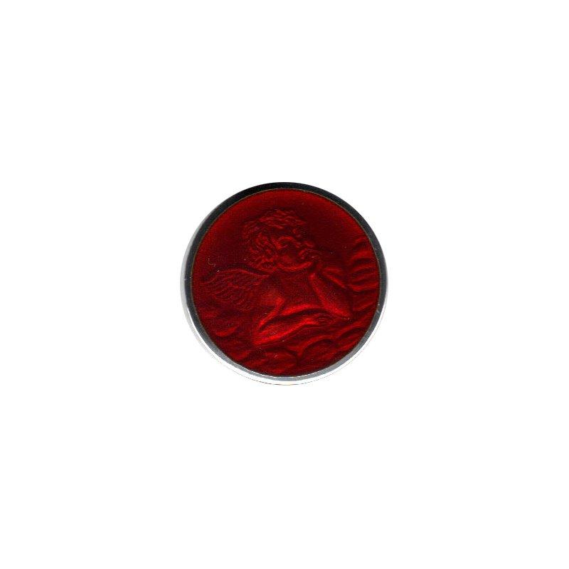 Red Enamel Cherub Medal Medium