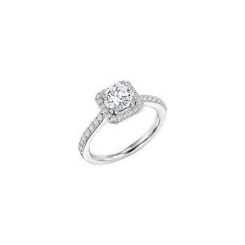 Diamond Cushion Halo Engagement Ring