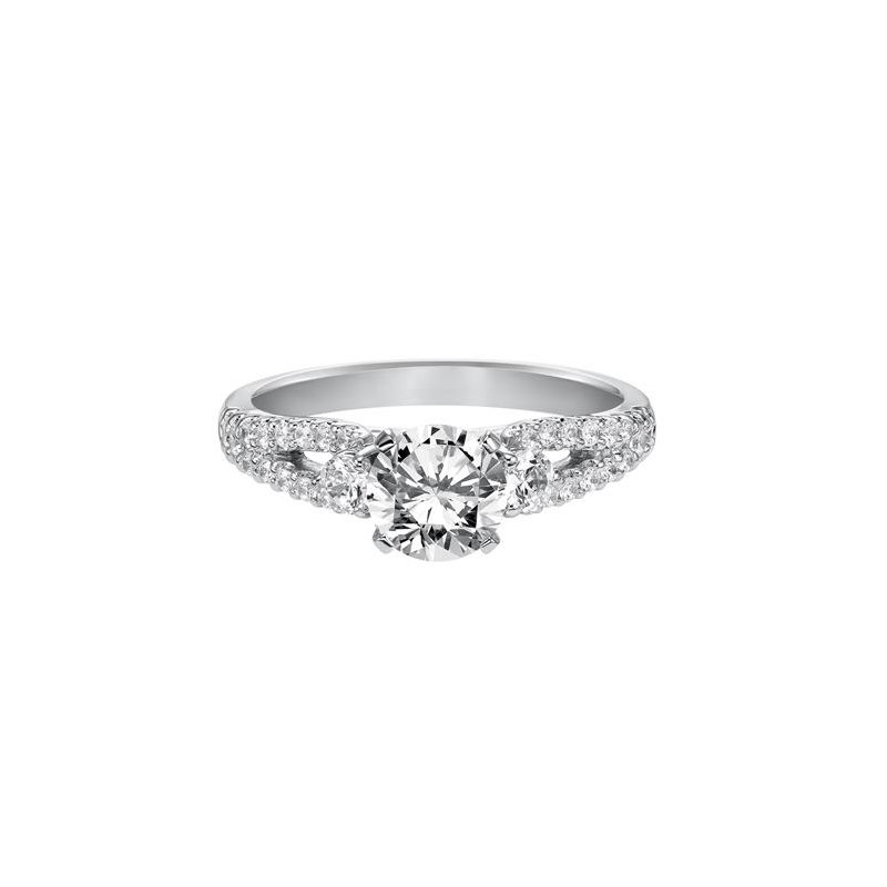 Diamond Engagement Ring with Open Shank