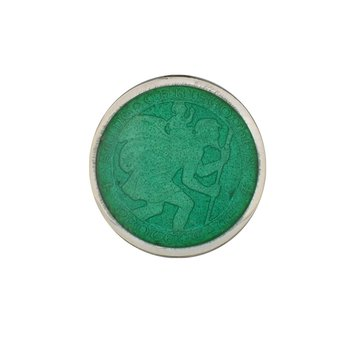 Jade Small St. Christopher Medal