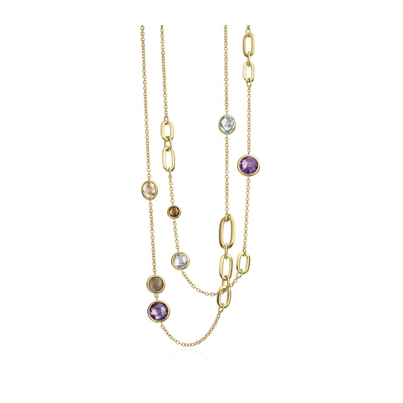 Amethyst, Citrine and Moonstone Necklace