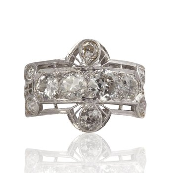 Diamond Estate Buckle Ring